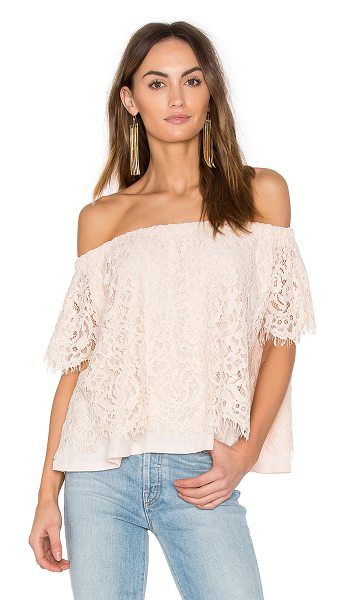 Generation Love Carly Lace Top in blush - Self: 70% cotton 30% nylonLining: 100% pima cotton. Dry...