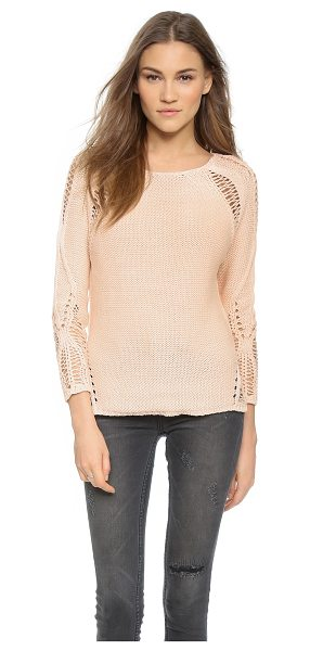 Generation Love Lulu shredded sweater in peach - Dropped stitches create a shredded effect on this grunge...