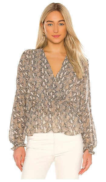 Generation Love paisley snake blouse in brown snake