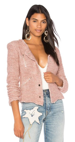Generation Love Pamela Jacket in rose - Wool blend. Dry clean only. Front snap button closure....