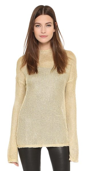 Georgia Alice Spangly motel sweater in gold - A slouchy, open knit Georgia Alice sweater with a...