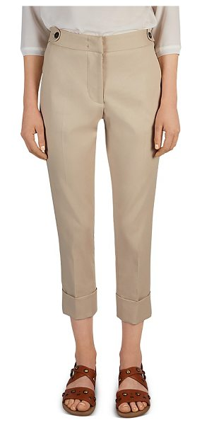 GERARD DAREL Paloma Stretch Cotton Slim Pants in beige - Gerard Darel Paloma Stretch Cotton Slim Pants-Women