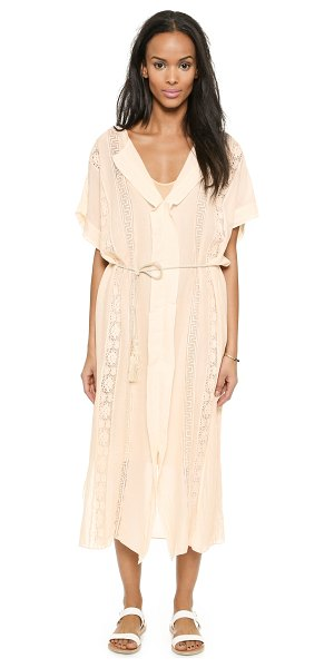 Giada Forte Tie front dress in cipria - A simple Giada Forte dress has vintage appeal with...