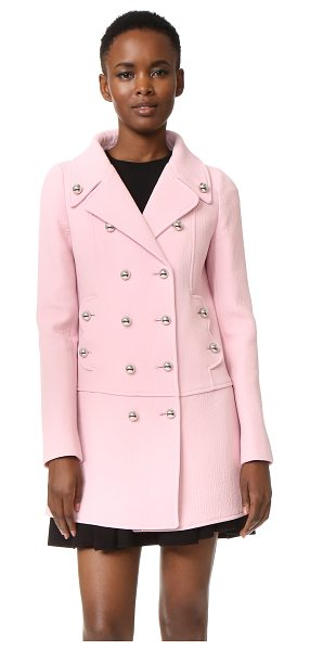 Giambattista Valli Coat in pink - Bold metal buttons shine from this double breasted...