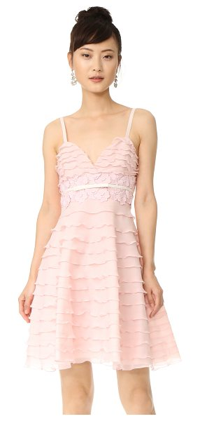 Giambattista Valli sleeveless flared dress in light pink - Ruffled tiers give graceful, feminine style to this...