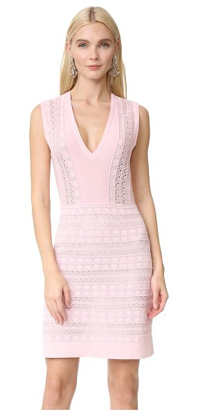 Giambattista Valli knit dress in pink - Pointelle stitches and loose-knit sections bring...