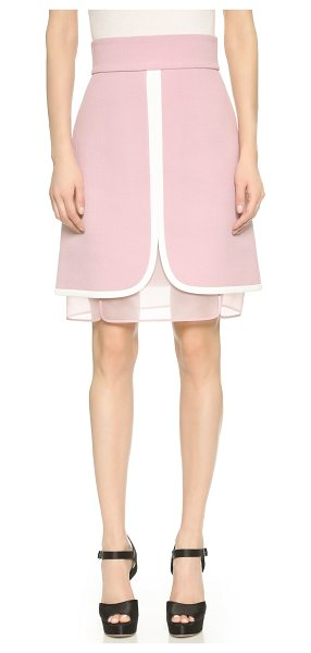 Giambattista Valli Layered skirt in mauve - Contrast banding defines the paneled construction of...