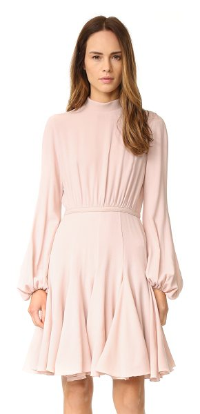Giambattista Valli Long sleeve dress in pale pink - A gored skirt brings flirty swing to this Giambattista...