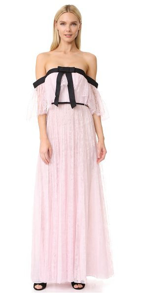 Giambattista Valli ruffled long dress in pink - Accordion pleats lend effortless volume to this delicate...