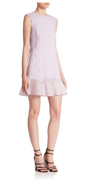 GIAMBATTISTA VALLI sleeveless ruffle dress - A delicate vine applique details this ruffle dress....