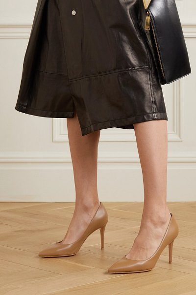 Gianvito Rossi 85 leather pumps in beige