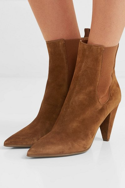 Gianvito Rossi 85 suede chelsea boots in tan