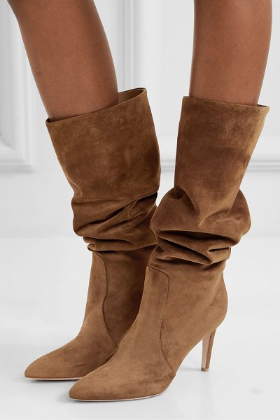 Gianvito Rossi 85 suede knee boots in brown