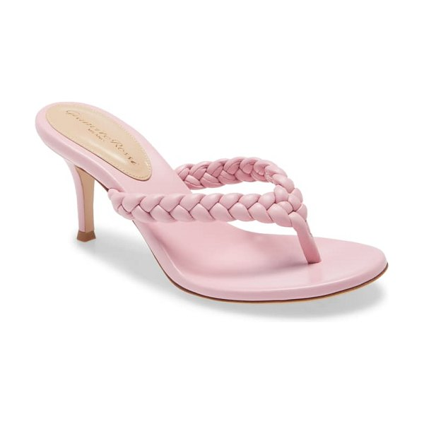 Gianvito Rossi braided strap sandal in pink