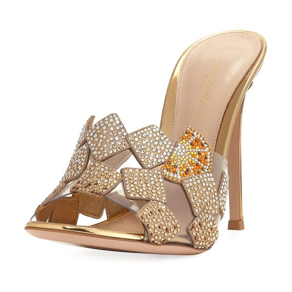 GIANVITO ROSSI Crystal 105mm Slide Sandal - ONLYATNM Only Here. Only Ours. Exclusively for You....