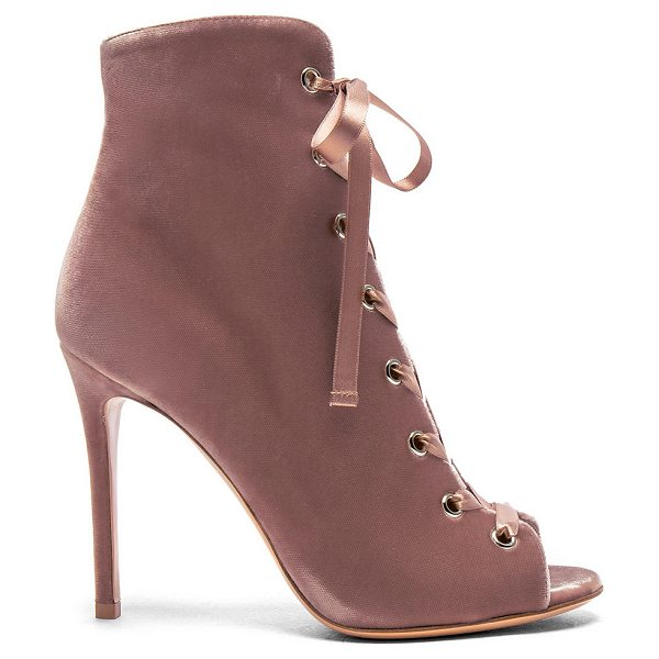 GIANVITO ROSSI for FWRD Velvet Marie Lace Up Booties - Velvet upper with leather sole.  Made in Italy.  Approx...