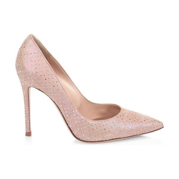 Gianvito Rossi gianvito embellished suede pumps in rosa
