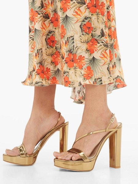Gianvito Rossi kimberly 85 metallic-leather platform sandals in gold