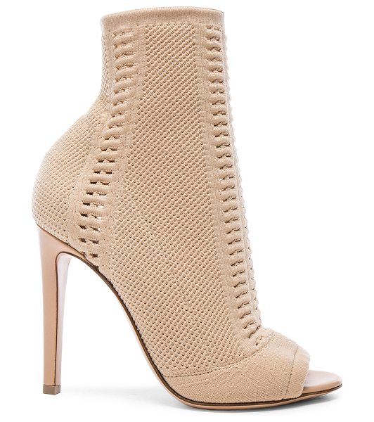 Gianvito Rossi Knit booties in neutrals - Stretch knit fabric upper with leather sole.  Made in...
