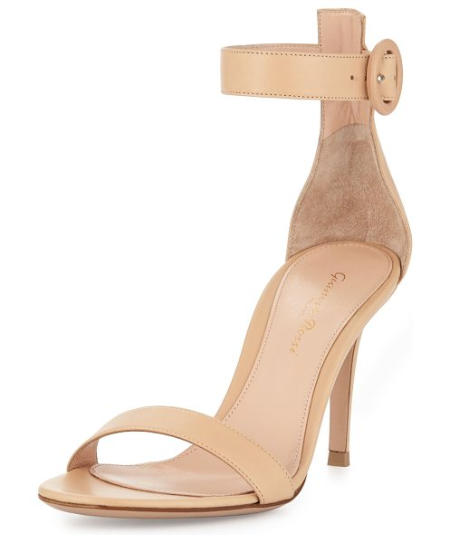 "GIANVITO ROSSI Leather ankle-strap simple sandal - Gianvito Rossi leather d'Orsay sandal. 3. 5"" covered..."