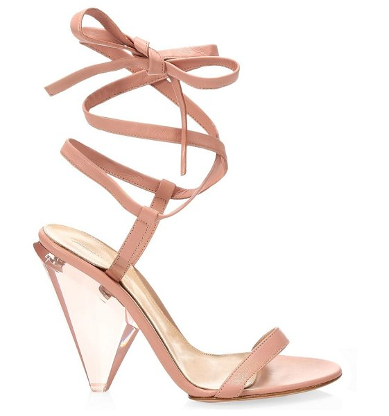 Gianvito Rossi leather ankle wrap sandals in pink