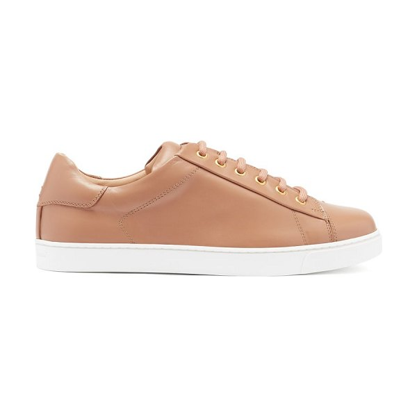 Gianvito Rossi leather trainers in nude
