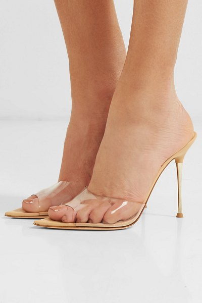 Gianvito Rossi lyn 105 pvc mules in neutral