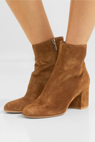 Gianvito Rossi margaux 65 suede ankle boots in tan
