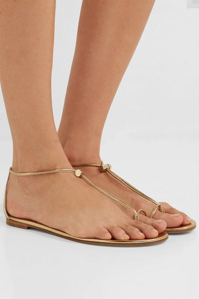 Gianvito Rossi metallic leather sandals in gold