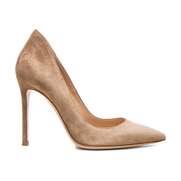 Gianvito Rossi Suede Gianvito Pumps in neutrals - Suede upper with leather sole.  Made in Italy.  Approx...