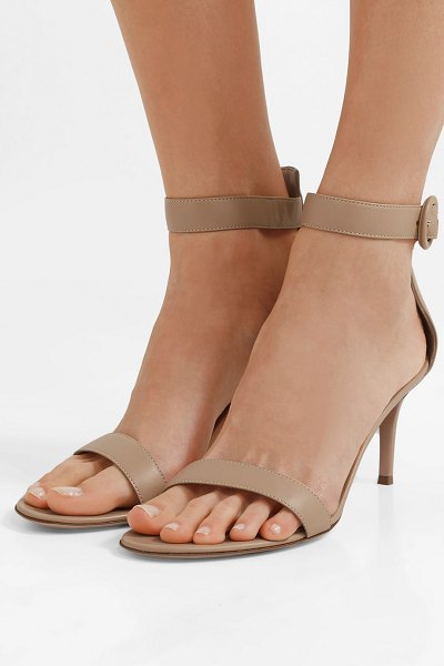 Gianvito Rossi portofino 70 leather sandals in beige