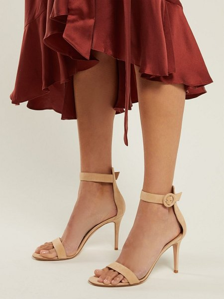 Gianvito Rossi portofino 85 suede sandals in nude