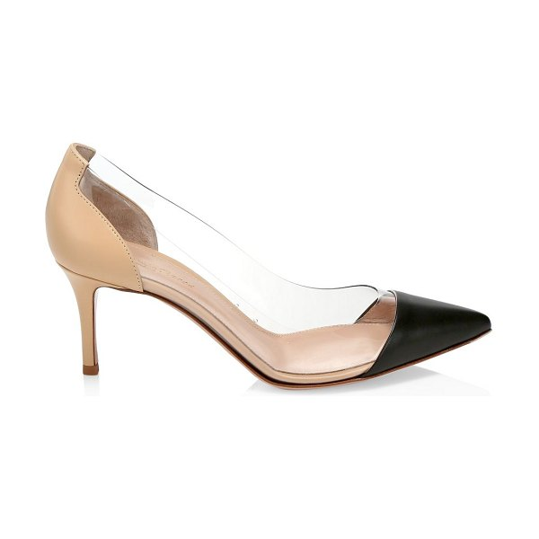Gianvito Rossi pvc pumps in black nude - Translucent PVC sides add an of-the-moment feel to these...