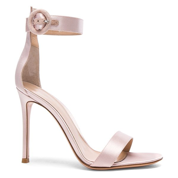 Gianvito Rossi Satin Portofino Heels in rosa - Satin upper with leather sole. Made in Italy. Approx...