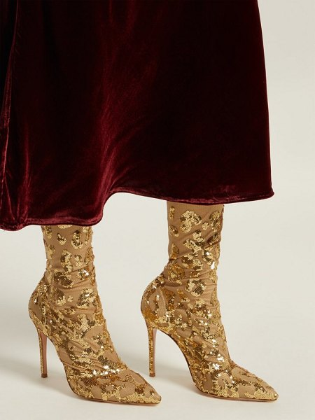 Gianvito Rossi daze cuissard over the knee boots in gold