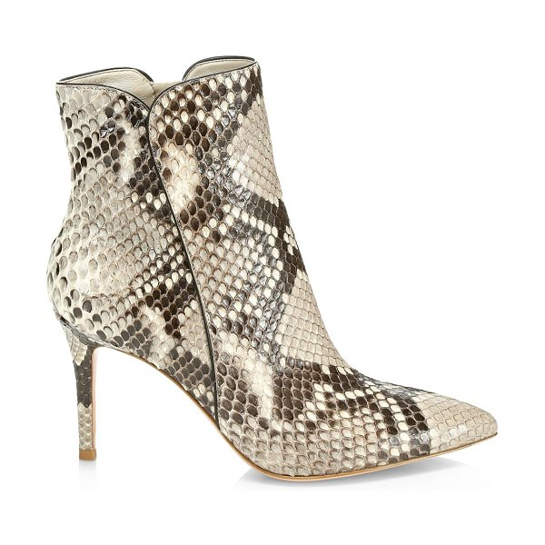 Gianvito Rossi levy python ankle boots in neutral