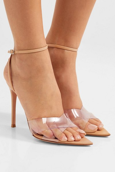 Gianvito Rossi stark 105 leather and pvc sandals in neutral