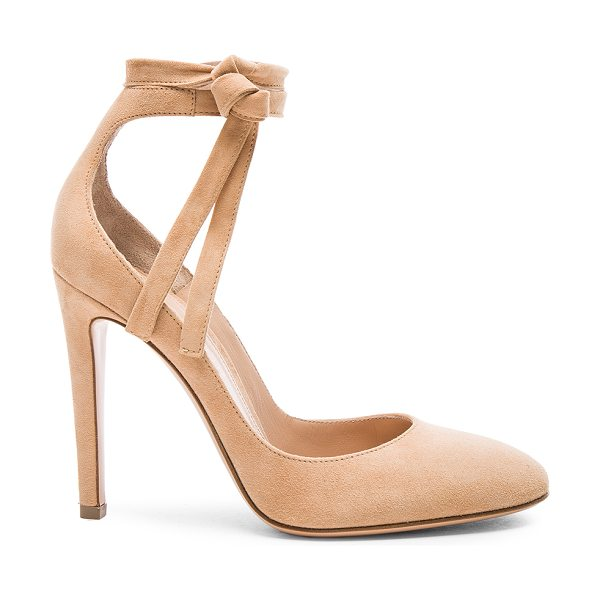 Gianvito Rossi Suede Carla Pumps in neutrals - Suede upper with leather sole.  Made in Italy.  Approx...