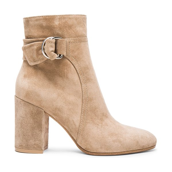 Gianvito Rossi Suede Belted Ankle Boots in neutrals - Suede upper with leather sole.  Made in Italy.  Approx...