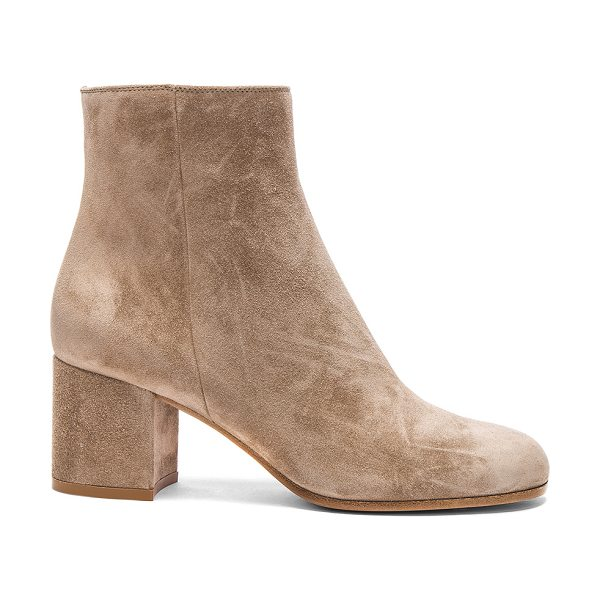 Gianvito Rossi Suede Margaux Booties in neutrals - Suede upper with leather sole.  Made in Italy.  Approx...