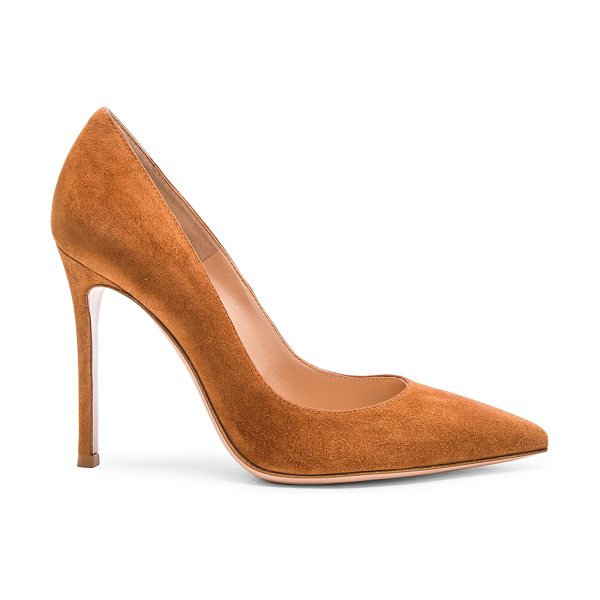 Gianvito Rossi Suede gianvito heels in brown - Suede upper with leather sole.  Made in Italy.  Approx...