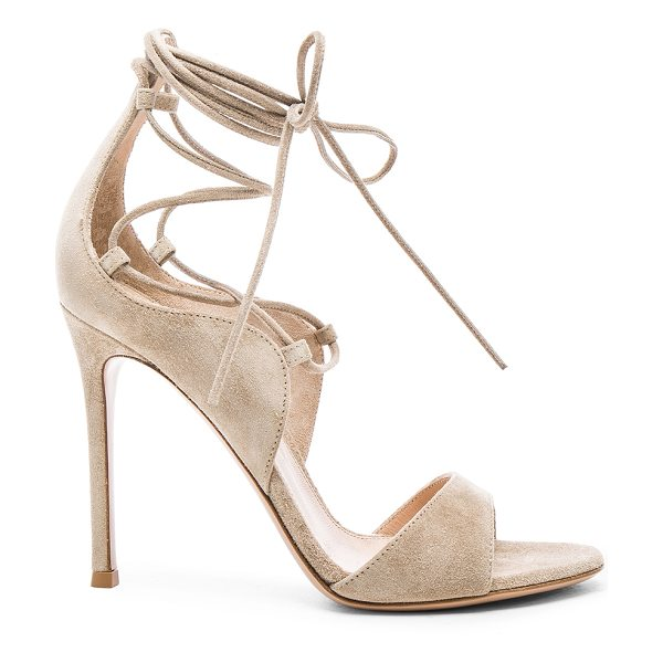 GIANVITO ROSSI Suede lace up heels - Suede upper with leather sole.  Made in Italy.  Approx...