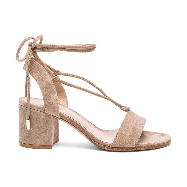 Gianvito Rossi Suede Lace Up Sandals in neutrals - Suede upper with leather sole.  Made in Italy.  Approx...