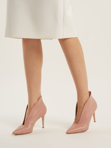 Gianvito Rossi vania 85 leather ankle boots in nude - Gianvito Rossi - Since its inception in 2007, Gianvito...