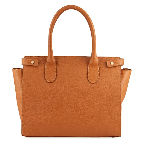 Gigi New York Reese Leather Tote Bag in brown