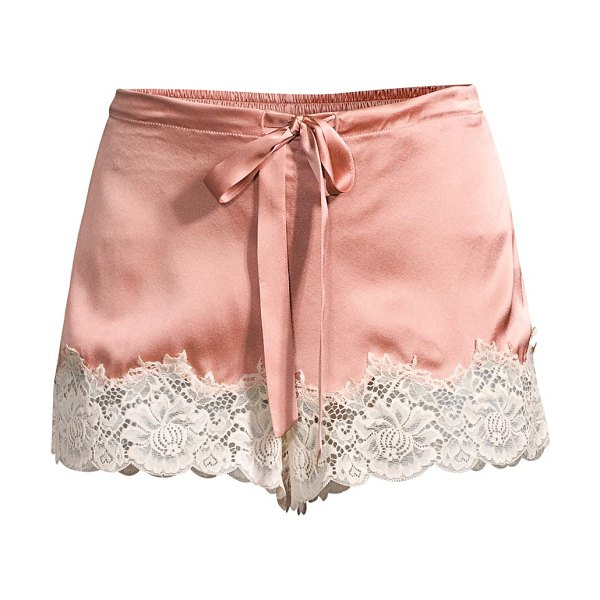 Ginia lace-trimmed shorts in canyon rose dawn lace