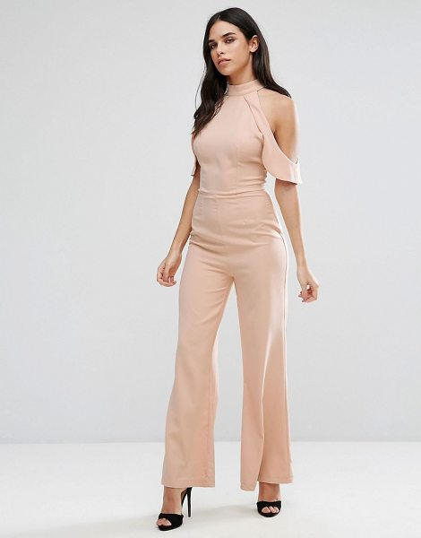"""Girl In Mind Cold Shoulder Jumpsuit in pink - """"""""Jumpsuit by Girl in Mind, Woven fabric, High neck,..."""