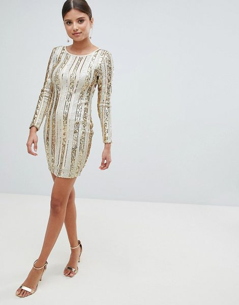 Girl In Mind open back sequin mini dress in gold - Evening dress by Girl In MInd, Some days call for a...