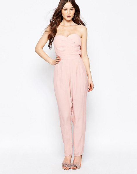 Girls on Film Girls On Film Bandeau Jumpsuit in pink - Jumpsuit by Girls On Film, Lightweight woven fabric,...