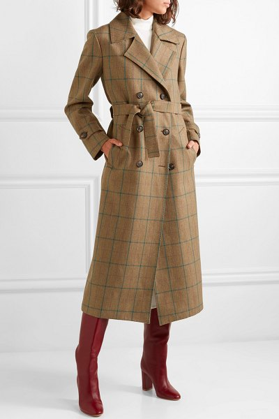 Giuliva Heritage Collection christie checked wool coat in beige
